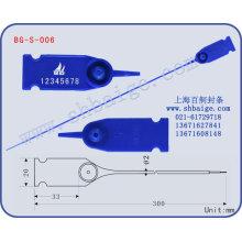 selo de segurança de plástico puxar apertado selo de plástico de BG-S-006