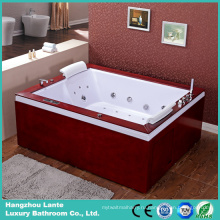 Роскошная ванная комната с джакузи с деревянной юбкой (TLP-666-деревянная юбка)