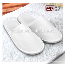 5 Star High Quality White Wholesale Chambre à coucher Disposable Hotel Custom Slippers
