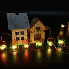 Christmas led fairy light with gift box