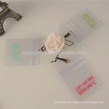 suporte de cartão de identificação comerciais transparentes preço barato do pvc