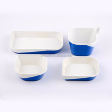 Durable blue plastic ABS non toxic china dinnerware for aircraft