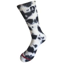 Media almohadilla de algodón de moda logotipo de deporte corbata de tejer calcetines (jmc10)