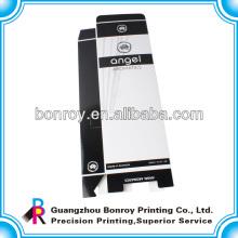 Pequeno macarons de dobramento decorativo reciclado personalizado embalagem de caixa de papel cosmético personalizado