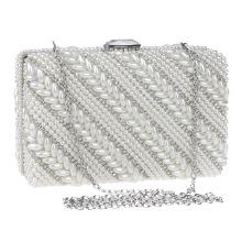 Pearls Women's Evening Dinner Clutch Bag Bride Bag For Wedding Evening Party Bridal HandBags B00106 ladies party wear bags