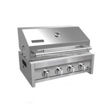 Barbecue à gaz intégré extérieur à 4 brûleurs