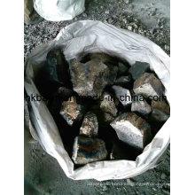 Trozo de ferro manganeso con alto contenido de carbono 75%