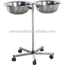 Mayo Table With Two Bowls Hospital trolley