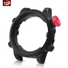 Parte de reloj mecanizado CNC negro personalizado