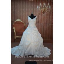 EN STOCK Robe de mariée à encolure en V à encolure dégagée SW01
