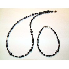 Hematite Set Lightgrey Jewelry
