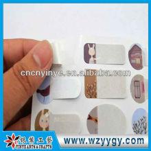 Moda em branco adesivos de pvc para crianças, oem escrevendo adesivos