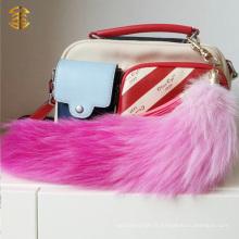 Nouveau Style Coloré Fox Fur Tail Key Rings Pendant Bag Charm