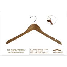 Camisa cabides de roupa de madeira de bambu Eco-Friendly