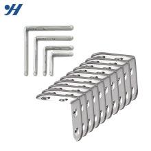 O metal de zinco galvanizou o suporte de canto dado forma L do canto com furos