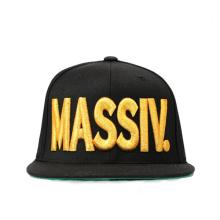 Chapéus feitos sob encomenda do Snapback do logotipo do metal do bordado