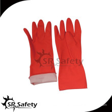 SRSAFETY cotton liner dipping latex coated gloves scrubbing glove made in China