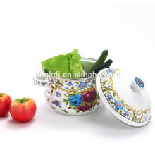 customized printed Chinese enamel casserole pot wholesale