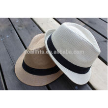 2014 Fashion Natural wheat Straw Hat hot selling men's hat/cap