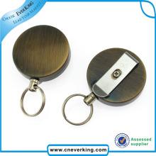 Metall verschiedene Form Pull Reel mit Schlüsselring