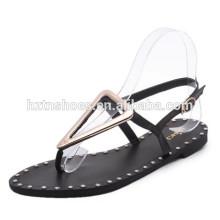 Novo modelo de sandálias planas para as mulheres mais baratas sandálias das senhoras da forma