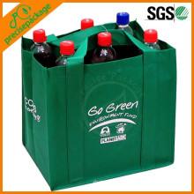 Bolso de empaquetado amistoso de la botella de vino no tejida de Eco del paquete 6 con el logotipo modificado para requisitos particulares