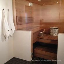 Sala de sauna de cedro rojo total