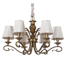 Iron Pendant Lamp Chandelier Light with Fabric Shade (SL2152-6)