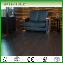 Color de grano de roble negro con piso de bambú macizo cepillado blanco de 14 mm