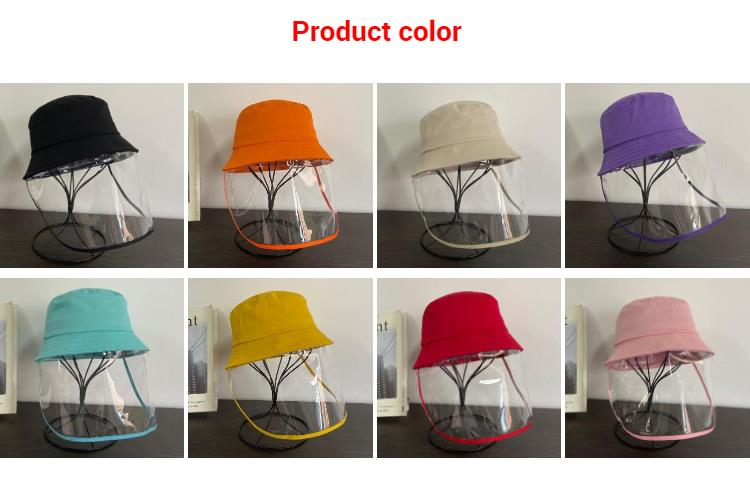 Children Bucket Hat With Plastic Pvc Cap