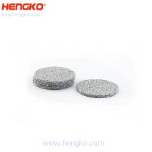 Uniform pores stainless steel 316L sintered disc filter for industrial filtration system