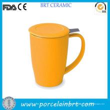 Керамический желтый чай кружка с infuser