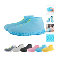 Cubiertas de zapatos con cremallera impermeables de silicona reutilizables