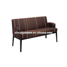 Strip fabric solid wooden longue couch XY3368