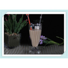 2015 hot sale drinking glass cups with customized logos high white glass material made glass cups drinking glassware for water