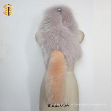 Forme la bufanda de la felpa de la cola de la piel de Fox Bufanda real del mapache y de la piel de zorro con las colas del Fox