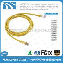 Cristal RJ45 jaune de haute qualité Plug to RJ45 Crystal Plug Cable Câble lan 1.5Meter