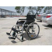 New Design Aluminium Rollstuhl Oval-förmigen Rohr Die beliebtesten hellgraue Farbe
