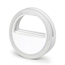 Portable mobile phone Selfie ring LED lamp USB charging Supplement light mobile phone lens night light Dimmable selfie light
