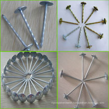 Hot sales! China YISHEN factory supply high quality galvanized umbrella head roofing nails