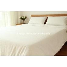Hotel 100% sábanas planas de satén de algodón conjunto