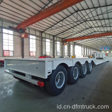 4 As Roda Rendah Flatbed 80 Ton Goosneck Trailer