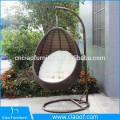 Vente chaude extérieure en osier Swing suspendus chaise de jardin
