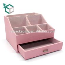 Пользовательские розовый твердый бархат коробка дисплея картона