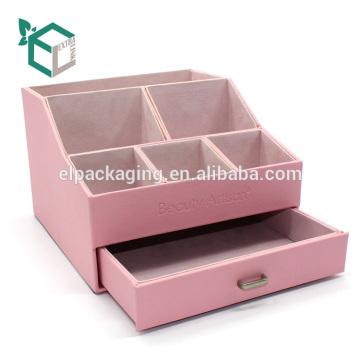 Benutzerdefinierte rosa starren Samt Karton Display-Box