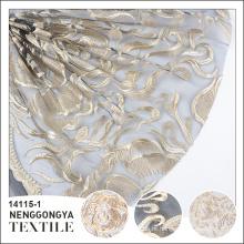 Made in China Alta qualidade elegante decorativo tecido tule bordado