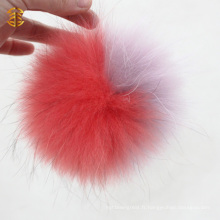 Real Animal Fluffy Raccoon Dog Fur Ball Grand Fourrure Pom Poms On Beanie Hat