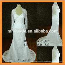 long sleeve bridal gown mermaid wedding gown lace fitted elegent design