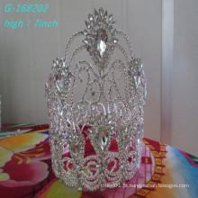 Coroa de corações de flor de moda e grandes coroas redondas