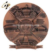 Échantillon gratuit en vrac nom personnalisé métal art gravé bâtiment souvenir gouvernement invitation lettre bougie plaque